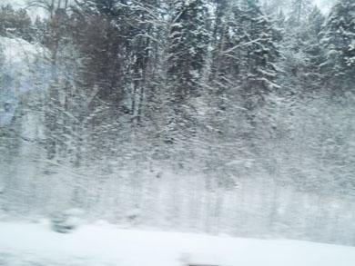 車窓からの雪-1