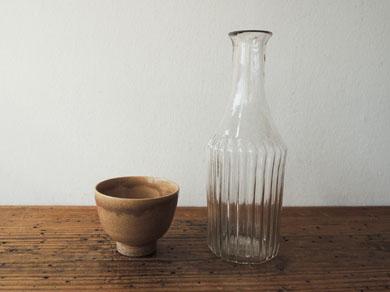 ガラス徳利 と 煎茶椀