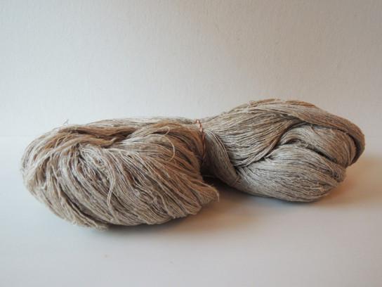 手紡ぎの麻糸-3