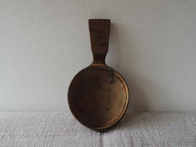 錫継ぎ木匙-2