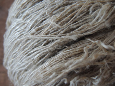手紡ぎの麻糸-4