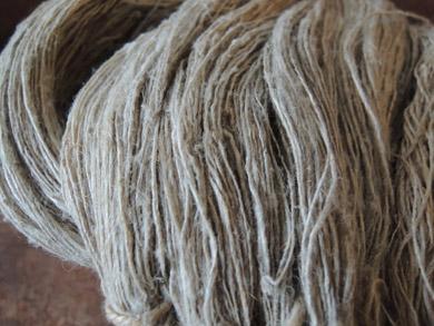 手紡ぎの麻糸-5