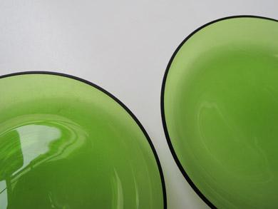 ガラスプレート緑-2