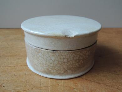 白磁クリームポット-4