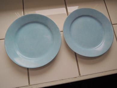 arabia水色ケーキ皿-4