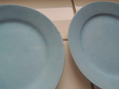 arabia水色ケーキ皿-5